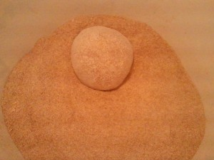 Burying Desem Starter in Flour