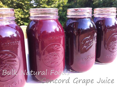 Canning Concord Grape Juice