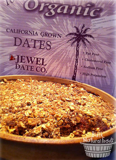 Jason's Date Crumble