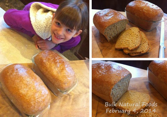 Maggie's First Loaves of Homemade Bread