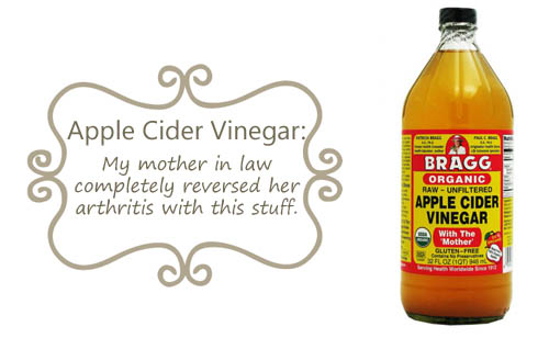 Apple cider vinegar helps joints