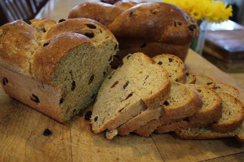 Sliced Whole Wheat Raisin Walnut Bread