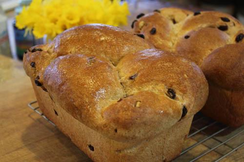 Whole Wheat Raisin Walnut Bread Fresh From The Oven
