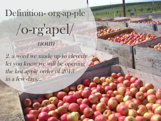 Orgapples! Organic Apples