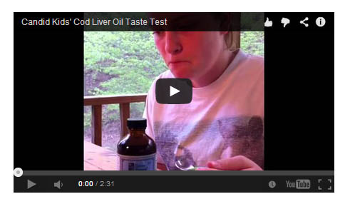 Cod Liver Oil Taste Test Video