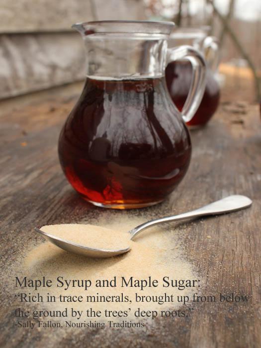 Unrefined Sweeteners - Maple Syrup