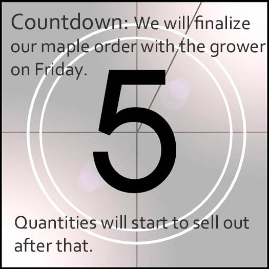 countdown to maple order