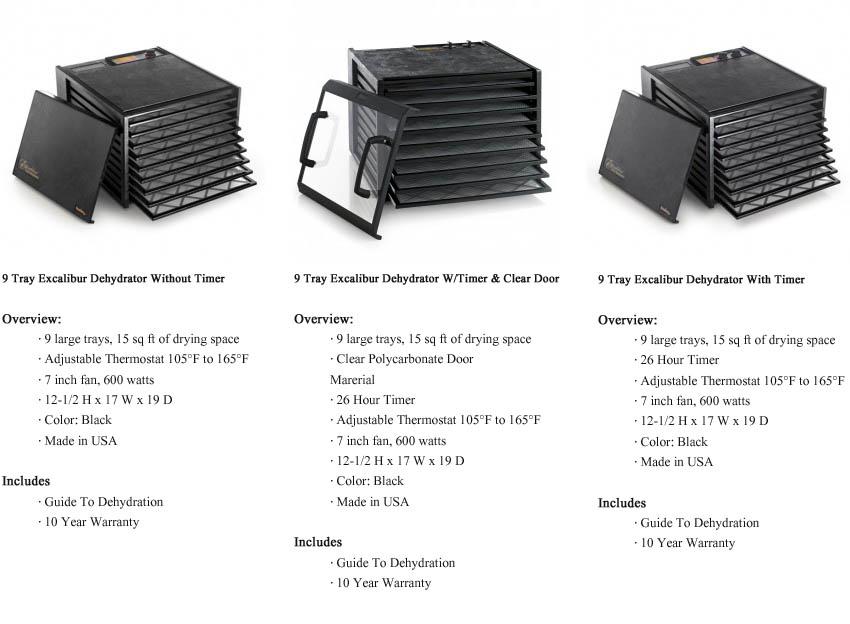 9 Tray Excalibur Dehydrators