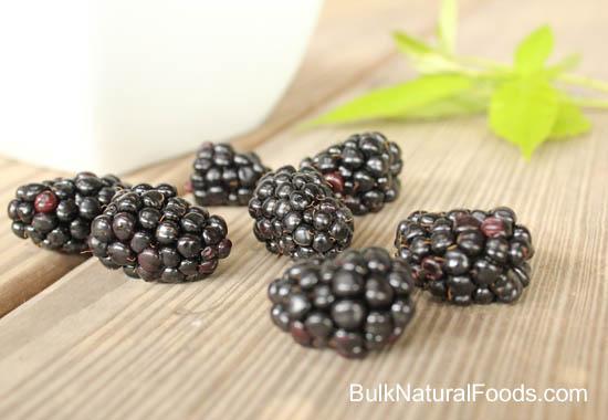 Blackberries on Wood