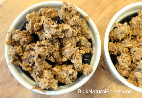 Cookie Topping on Blackberry Cobbler