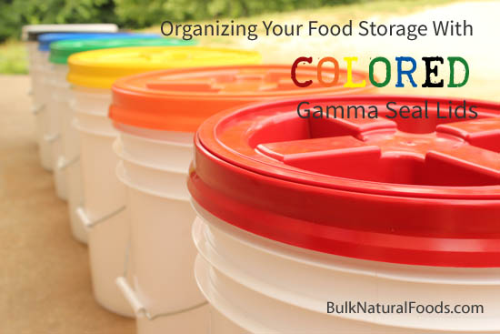 Organizing Food With Colored Gamma Lids