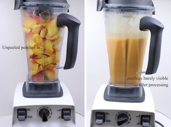 Processing Peaches FAST In VitaMix