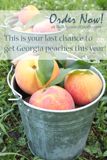 Last chance to get Georgia peaches this year!