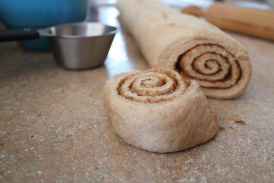 Cut Cinnamon Roll