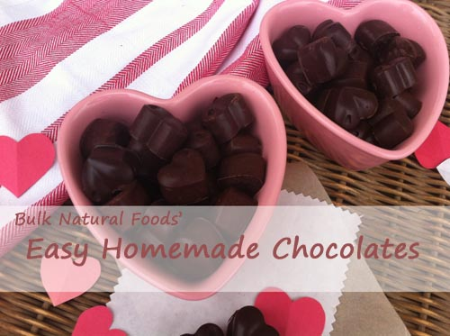 Homemade chocolates made with coconut oil. Easy!