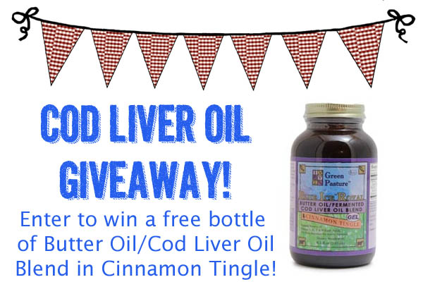 Cod Liver Oil Butter Oil Giveaway