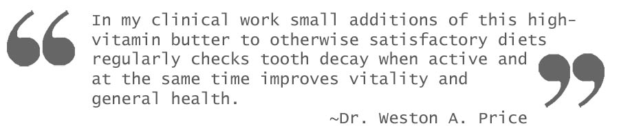 Quote - Small Additions Of High Vitamin Butter Oil