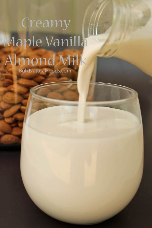 Almond Milk Pouring From Bottle
