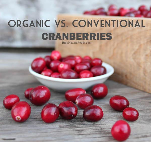 organic vs conventional cranberries