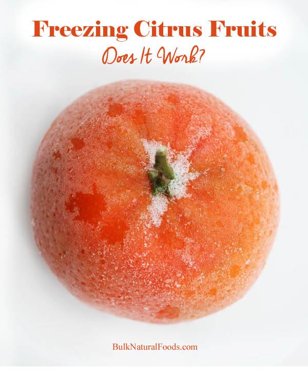 Freezing Citrus Fruits